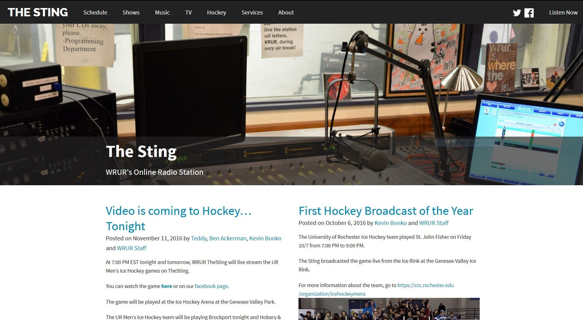 The Sting – WRUR's Online Radio Station