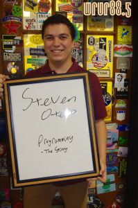 Steven (Sting Programming) in front of the Sticker Door