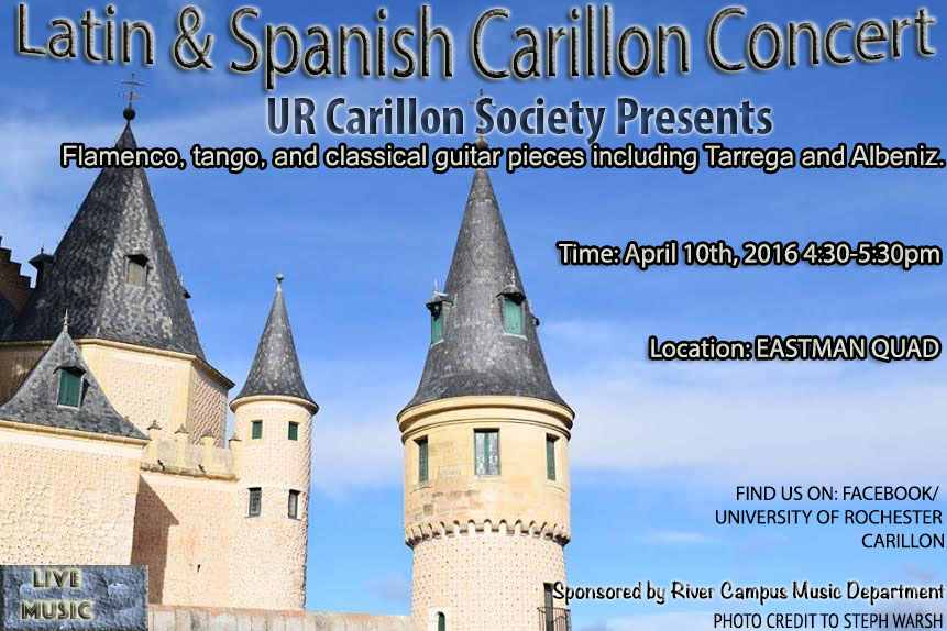 Latin and Spanish Carillon Concert Flyer