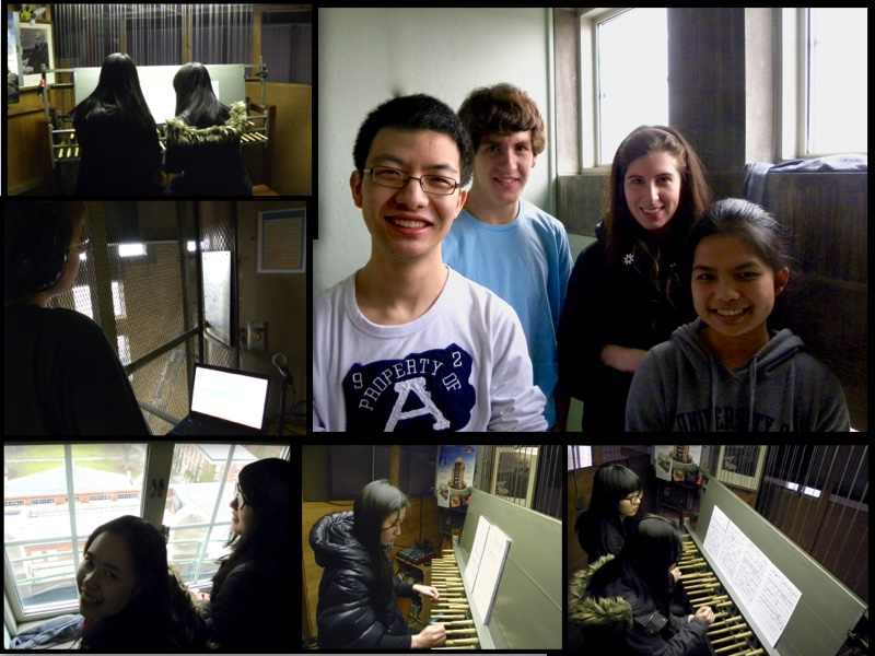 Students playing the Carillon
